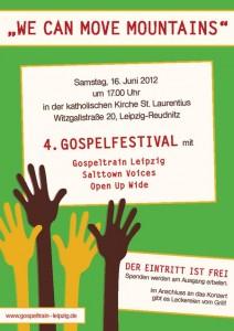 Plakat zum 4. Leipziger Gospelfestival
