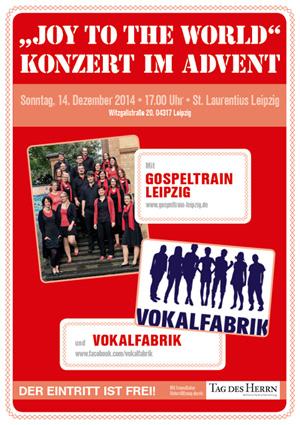 Plakat für das Adventskonzert